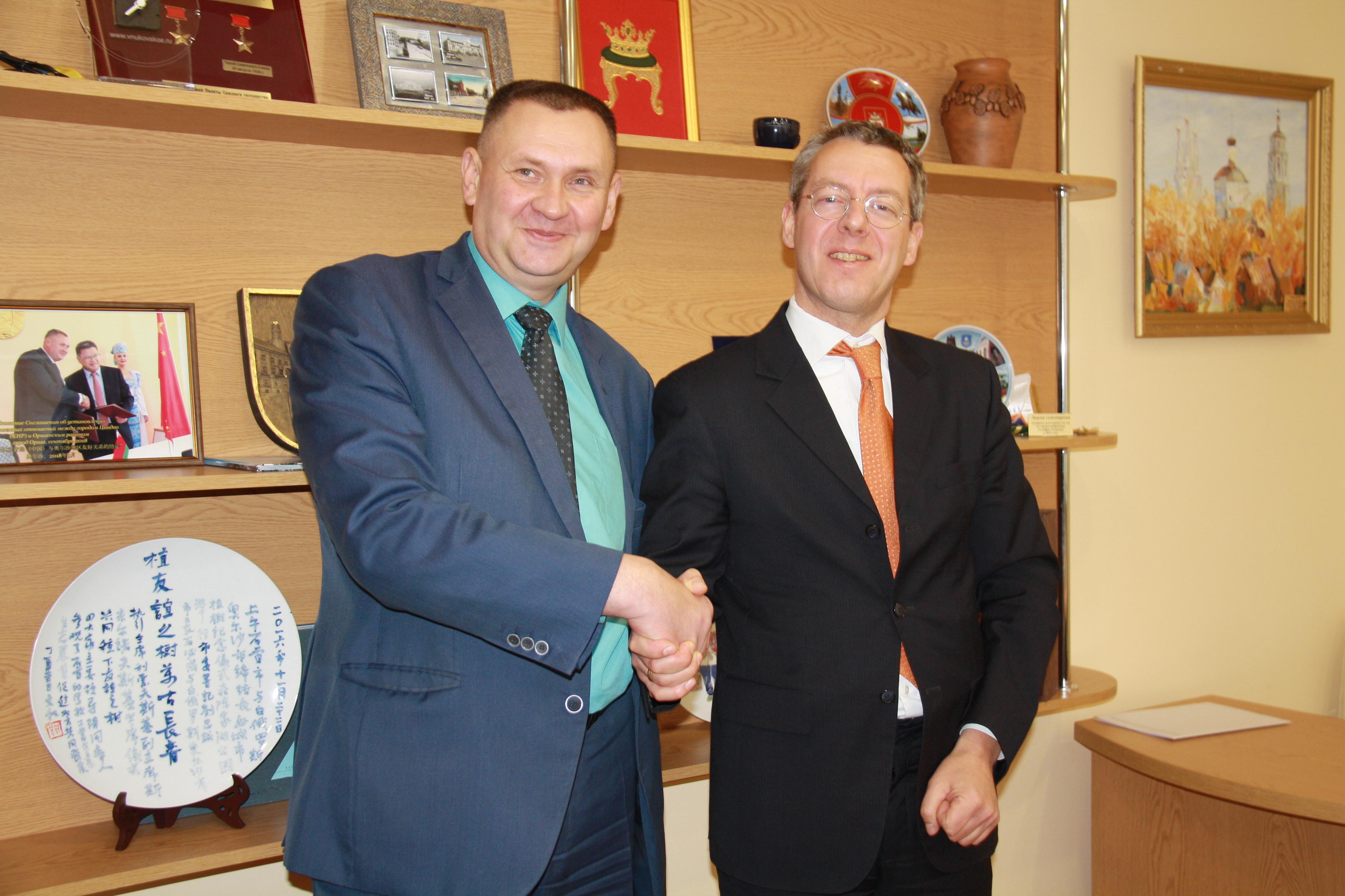 В Оршу с деловым визитом приехал гость из Нидерландов